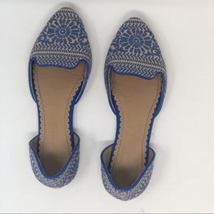 RESTRICTED PATTERNED FLAT SHOES 7.5